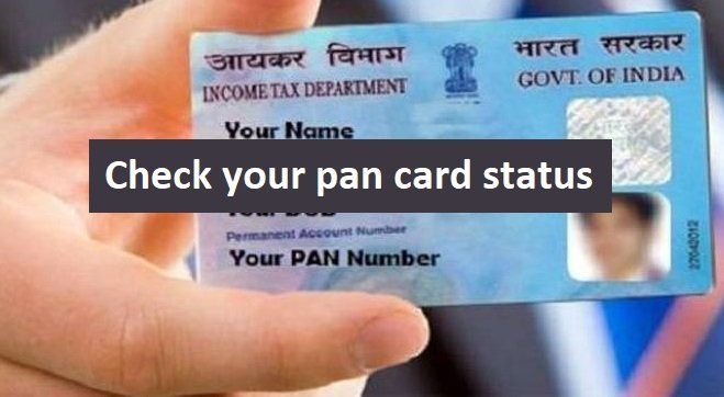 check your pan card status online