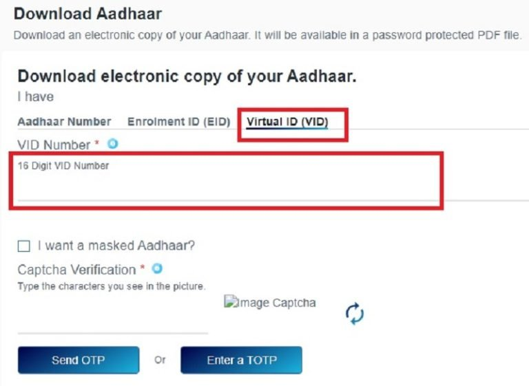 download e-Aadhaar Card